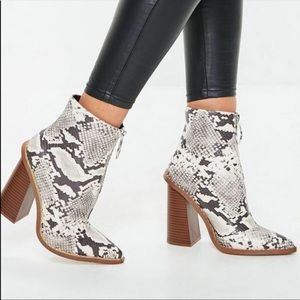 Missguided Snakeskin Boots